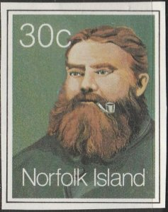 Norfolk Island,  Used cut out-Man.  From 1983