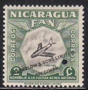 NICARAGUA # 756  Mint  NH Color trial - Specimen