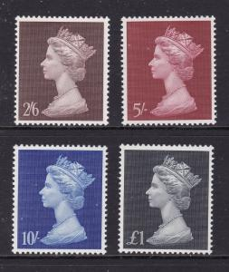 Great Britain x 4 UHM late pre decimal higher values