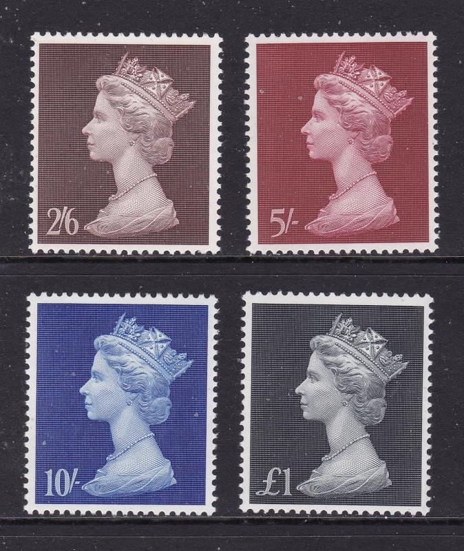 Great Britain the 4 MNH high values from 1969