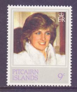 Pitcairn Is Scott 214, 1982 Princess Diana 9c MNH**