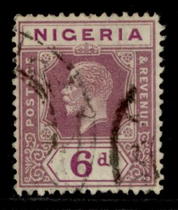 NIGERIA GV SG25a, 6d dull purple & bright purple, USED.