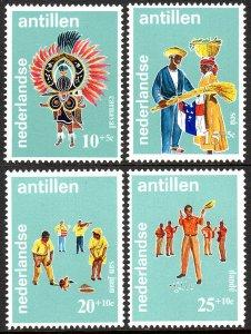 Netherlands Antilles B93-B96, MNH. Headpiece, Festival,  Dancers, Dande, 1969