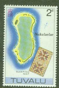 TUVALU Scott 24 MNH** Map of Nakulaelae atol
