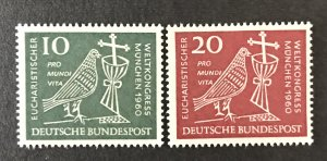Germany  1960 #811-2, MNH, CV $1.15