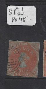 CHILE  (P1907B)  IMPERF COLUMBUS 5 C  SC 1   VFU
