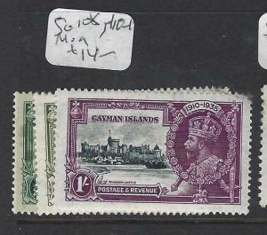 CAYMAN ISLANDS   (PP2903B)     KGV SILVER JUBILEE  SG  108, 110-2   MOG