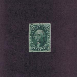 SC# 15 USED 10c, 1855, TOWN PMK, PF CERT GRADED VF 80