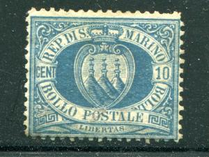 San Marino #7 Mint  lightly hinged  Cat $350
