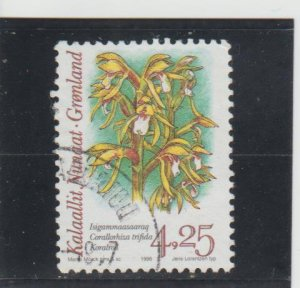 Greenland  Scott#  280  Used  (1995 Orchid)