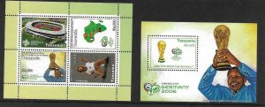 2006    TANZANIA  -  SG.  MS 2535 / MS 2536  -  FOOTBALL WORLD CUP  -  MNH