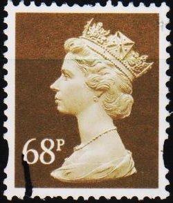 Great Britain. Date? 68p Fine Used