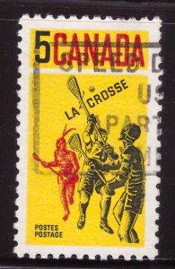 Canada Scott 483 Used La Crosse stamp typical cancel