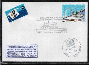 AANT-291,ARGENTINA 2002 ANTARCTICA SHIP, ICEBREAKER IRIZAR RESCUE OLDENDORF SHIP