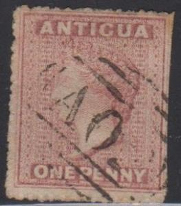 ANTIGUA / Scott 2 / Victoria USED / right side trimmed slightly