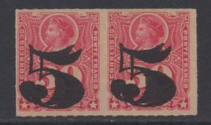 *Chile # 50b Pair, MNH VF, NG, Rouletted, Double OVPT, NICE!!