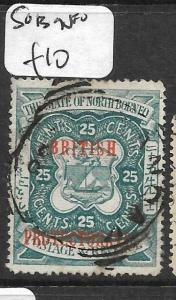 NORTH BORNEO (PP2703B)  25C ARMS LION BP SG 137 VFU