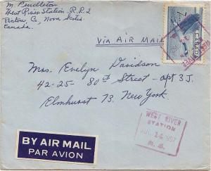 Canada Canada Goose Wildlife 1957 West River Station N.S violet boxed sl Airm...