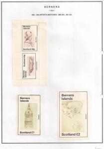 SCOTLAND - BERNERA - 1981 - Artists Sketches - 2v Perf, Min, D/L Sheets - MLH