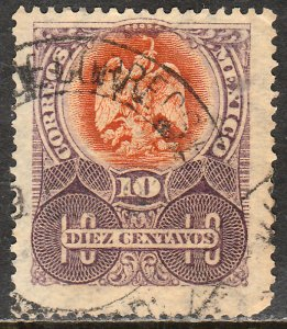 MEXICO 298, 10cents EAGLE COAT OF ARMS. USED. VF.(190)