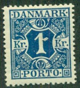 DENMARK #J22, Mint Never Hinged, Scott $235.00
