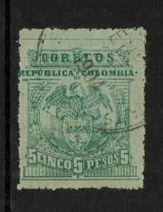 Colombia SC# 273A Used / Perfed / Signed Back - S10263