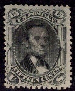 US Stamp #77 15c Black Lincoln USED SCV $175. Crisp Paper, Light Cancel.