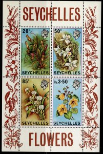 SEYCHELLES QEII SG MS292, 1970 mini sheet, NH MINT.