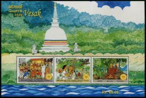 HERRICKSTAMP NEW ISSUES SRI LANKA Sc.# 1969a Vesak 2015 S/S