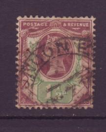 J9132 JL stamps @20% 1887-92 great britain used #112