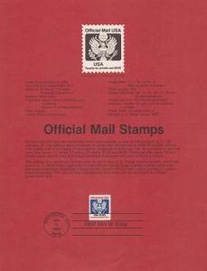 US SP603 Official Mail Souvenir Page #O132