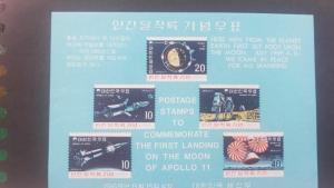 O) 1969 KOREA. SPACE - APOLLO 11 -ORBITS OF COMMAND AND LANDING MODULES AROUND M