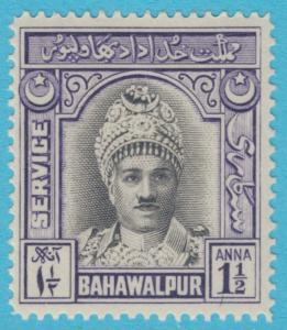 PAKISTAN  BAHAWALPUR O15  MINT HINGED OG  *  NO FAULTS EXTRA FINE!