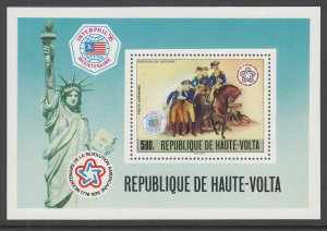 Burkina Faso C244 US Bicentennial Souvenir Sheet MNH VF