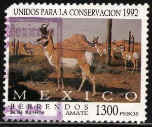 MEXICO 1778, United for Conservation - Berrendo Deer. USED. F-VF.