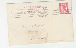 QUEENSLAND, Postal Card 1912 1d. Red, Brisbane to Gympie.