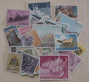 SAN MARINO 133 DIFF. STAMPS COMMEMORATIVES 1960's  MINT MANY NH