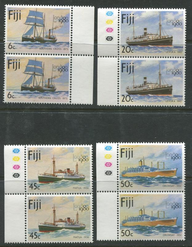 Fiji - Scott 426-429 - Ships Issue 1980- MNH - Pair of Sets of 4 Stamps