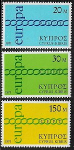 Cyprus #365-7 MNH Set - Europa