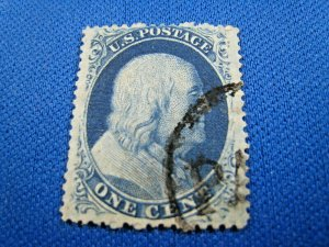 UNITED STATES, 1857 SCOTT #24  -  USED Type V  (#1)