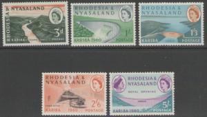 RHODESIA & NYASALAND SG32/7 1960 HYDRO-ELECTRIC SCHEME MNH