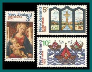 New Zealand 1975 Christmas, MNH  #581-583,SG1083-SG1085