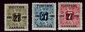 Denmark SC#145-147 Mint F-VF SCV$11.75...Worth a Close Look!