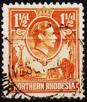 Northern Rhodesia. 1938 1 1/2d S.G.30 Fine Used