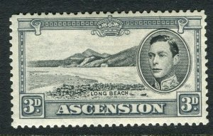 ASCENSION ISLAND; 1938 early GVI issue fine Mint hinged PERF 13.5, value 3d