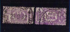 ITALY Scott #Q30 Back of Book used Complete Pair Seperated Center F-VF