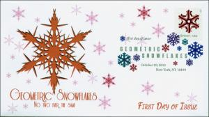 2015, Geometric Snowflakes, Red, FDC, Digital Color Postmark,  15-285