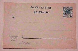 GERMAN SAMOA DOUBLE  POSTAL CARD #3 cat.$44.00 MINT