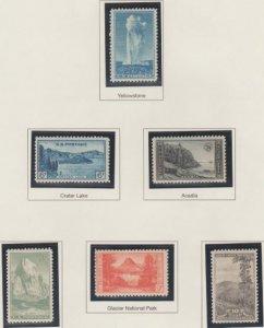 U.S. Scott #740-749 National Park Stamp - Mint NH Set