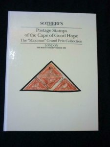 SOTHEBY'S  AUCTION CATALOGUE 1989 CAPE OF GOOD HOPE THE 'MAXIMUS' COLLECTION